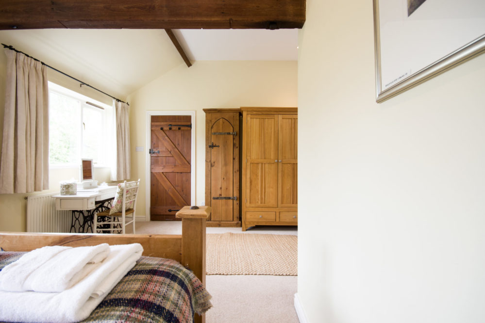 2019 Magdalen Cottage view from double bed