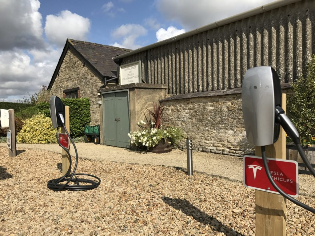 Tesla-EV-charge-points-at-Oxford-Country-Cottages