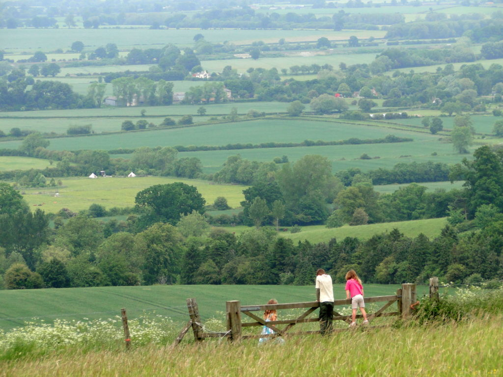 Overlooking The Vale of White Horse.