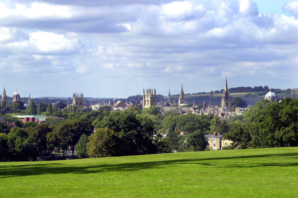 View of Oxford with church and college spires